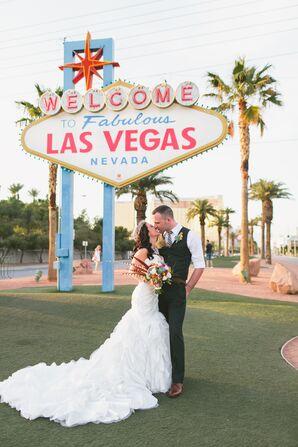 Long Ruffled Wedding Dress Train