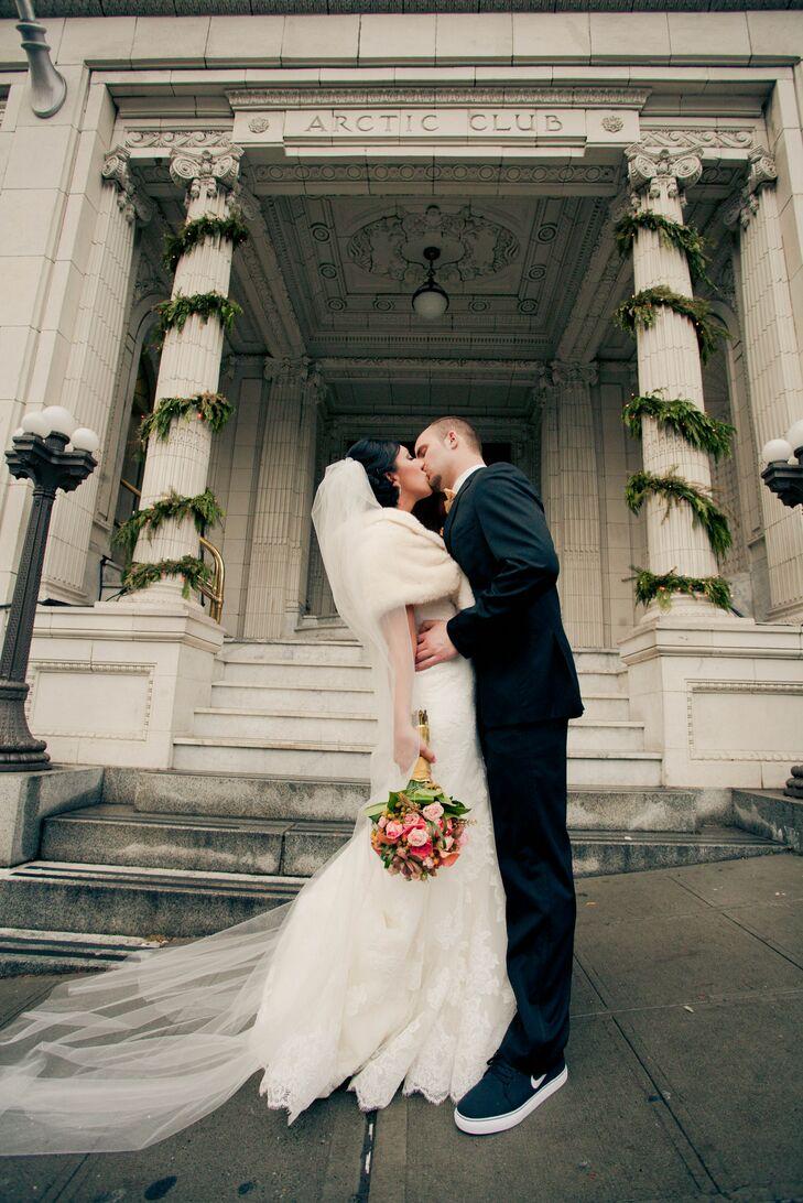 Shantelle and Alex Kissing, Wedding Venue