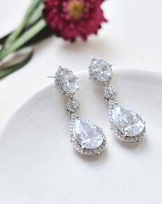 Dareth Colburn Emerson CZ Earrings (JE-4095) Wedding Earring photo