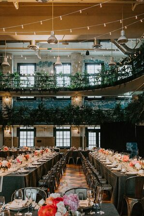 Modern-Industrial Reception at Ace Hotel Pittsburgh