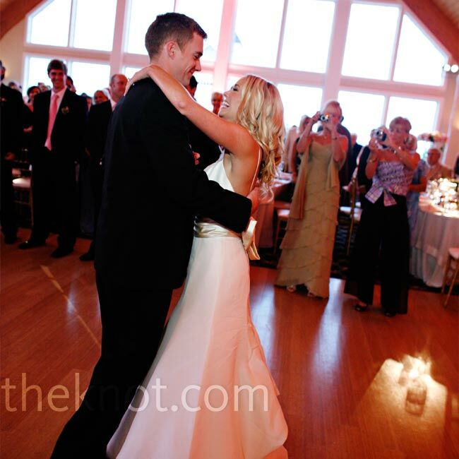"""The 7-piece band played Bobby Darin's """"More"""" for the couple's first dance. Afterward, Jacqueline and her dad danced to Brooks & Dunn's """"Neon Moon."""""""