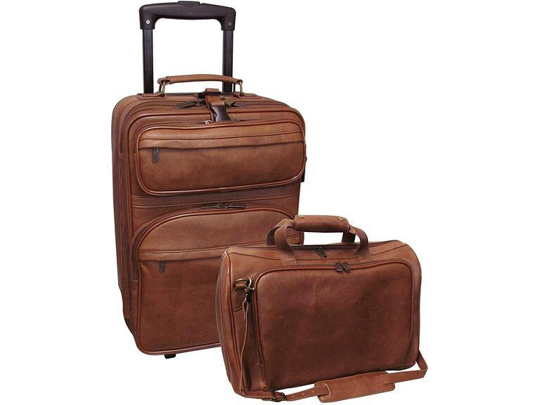 Amerileather 2-piece leather luggage set