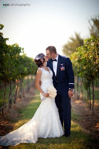 Cave ridge vineyard wedding dress