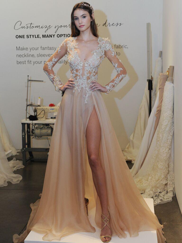 Princess wedding dress with beading and sweetheart