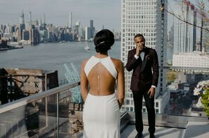 Groom Reacts to First Look in Brooklyn, New York