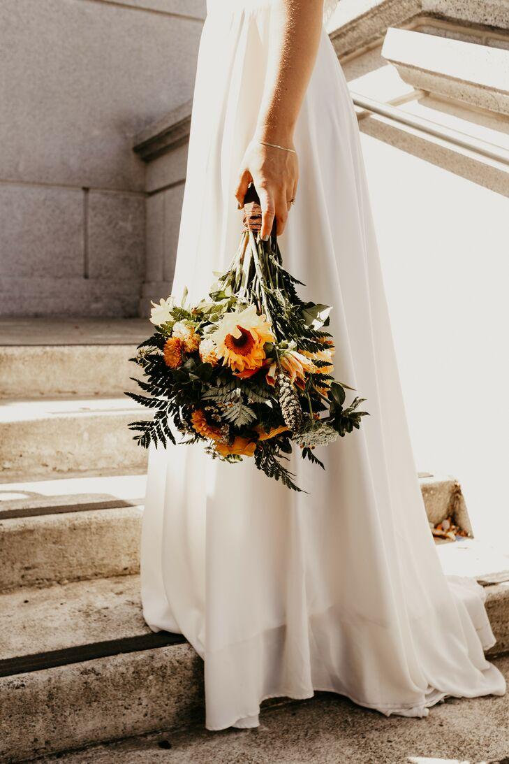 Daisy Wedding Bouquet for Elopement at UC Berkeley