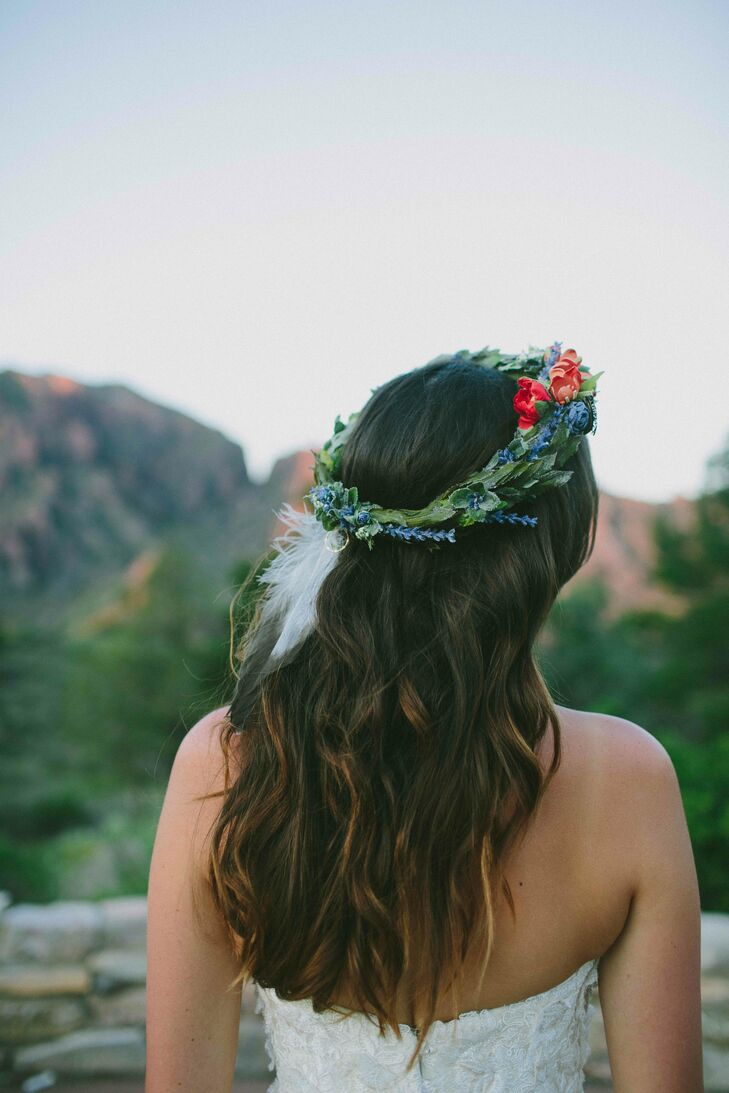 DIY Wildflower and Feather Crown