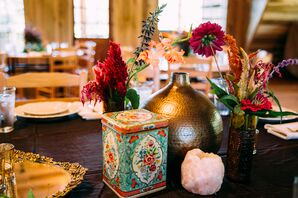 Eclectic Mixed Nicknack Centerpiece