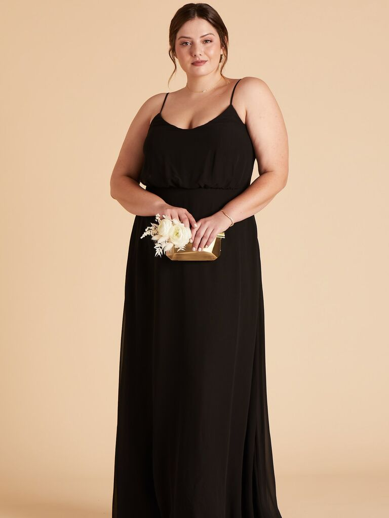 Plus size black bridesmaid dress under $100