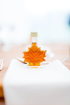 Homemade Maple Syrup Favors