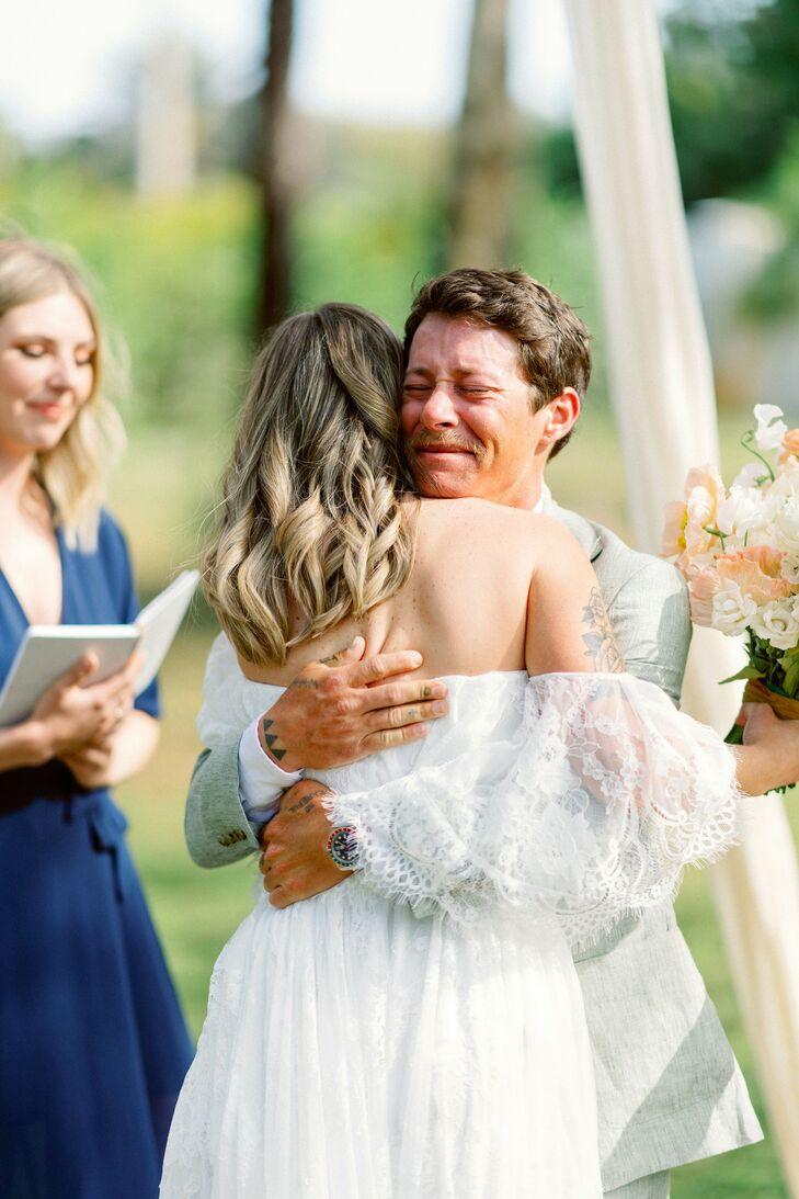 Ceremony at Bohemian Wedding in Naples, Florida