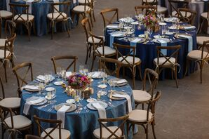 Blue Round Dining Tables
