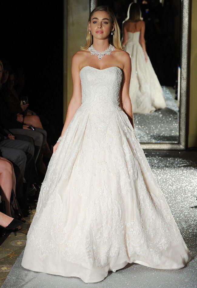 Oleg Cassini Wedding Dresses 2015 Showcases Detailed Floral