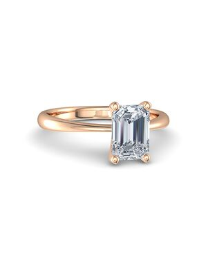Gemvara - Customized Engagement Rings Emerald Cut Engagement Ring