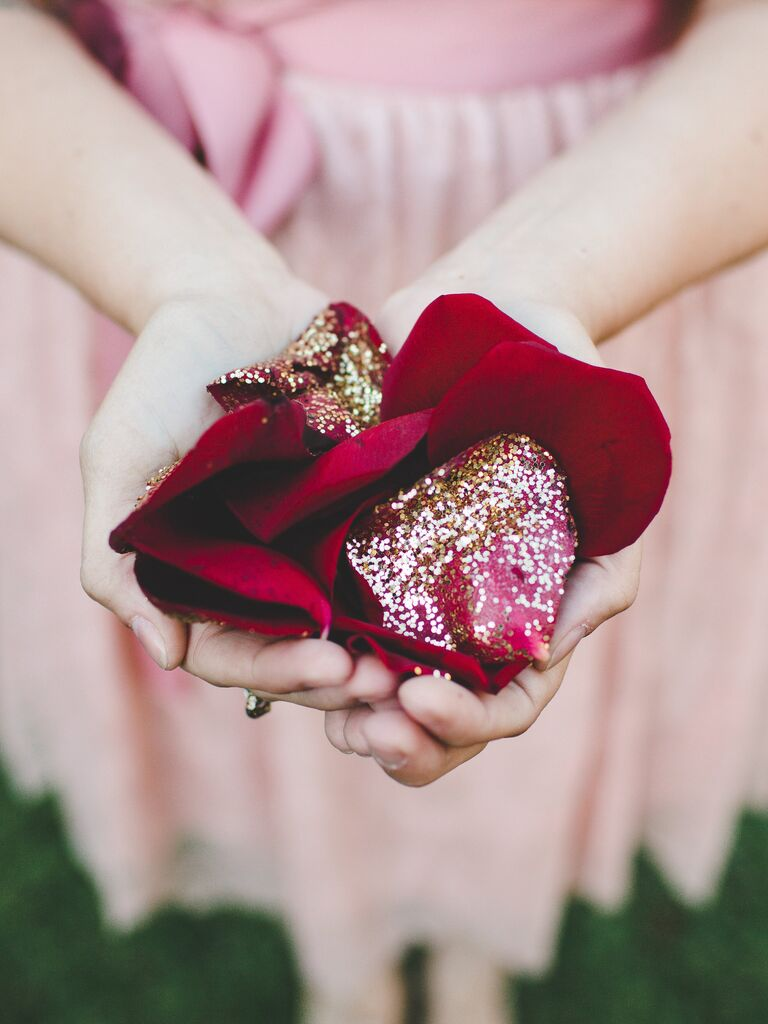 16 Grown-Up Ways to Use Glitter at Your Wedding
