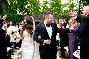 Formal Courtyard Wedding Recessional