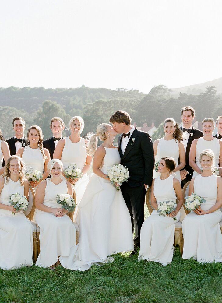 Formal White Bridesmaid Dresses