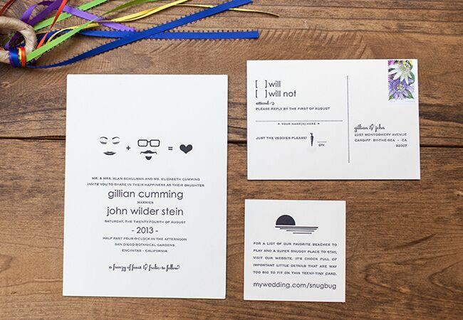 wedding stationery | She Wanders  | blog.theknot.com