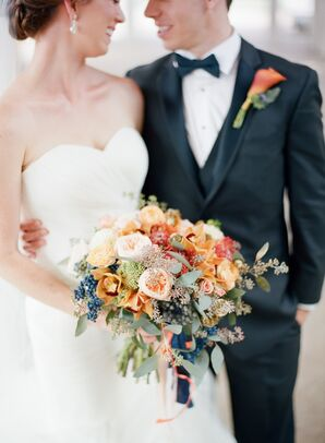 Bouquet with Orange and Red Flowers