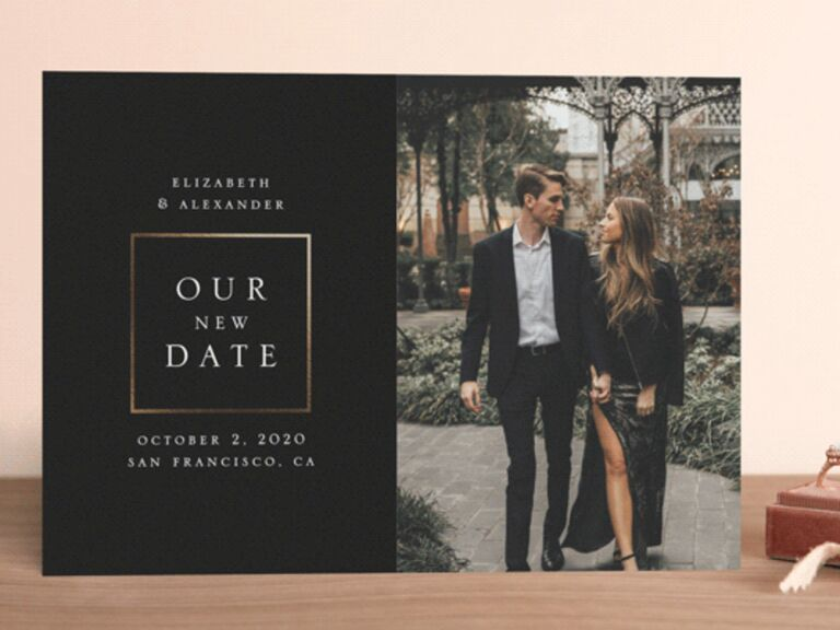 Wedding Postponement Cards Minted