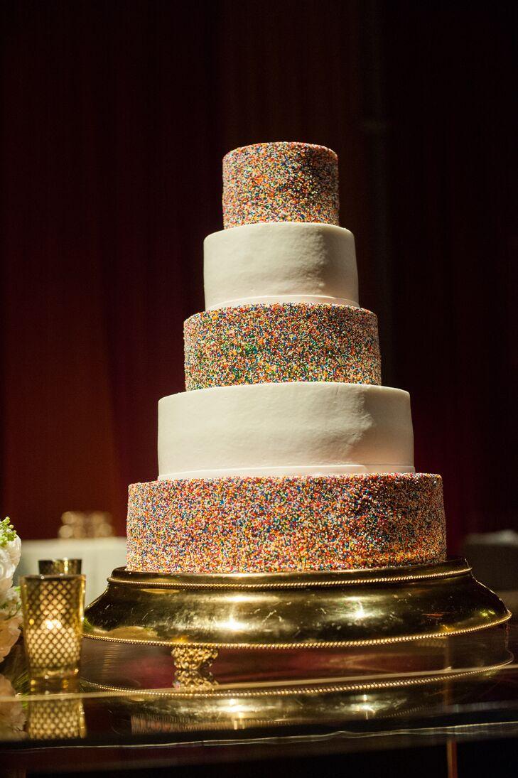 Colorful Sprinkle Wedding Cake
