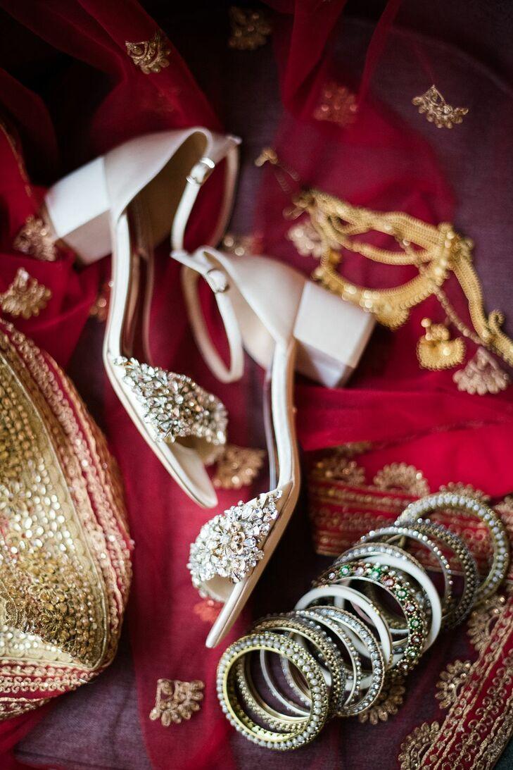 Elegant Bridal Shoes and Hindu Bangles