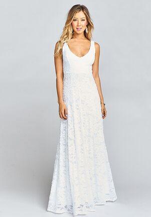 Show Me Your Mumu Jenn Maxi Dress - Lovers Lace White V-Neck Bridesmaid Dress
