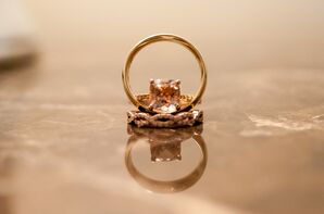 Rose Gold Ring With Infinity Band