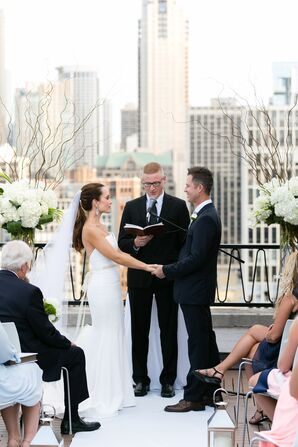 Elegant Rooftop Ceremony at The Ambassador