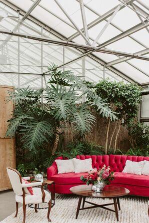 Lounge Area at Fairmount Park Horticulture Center Wedding Reception