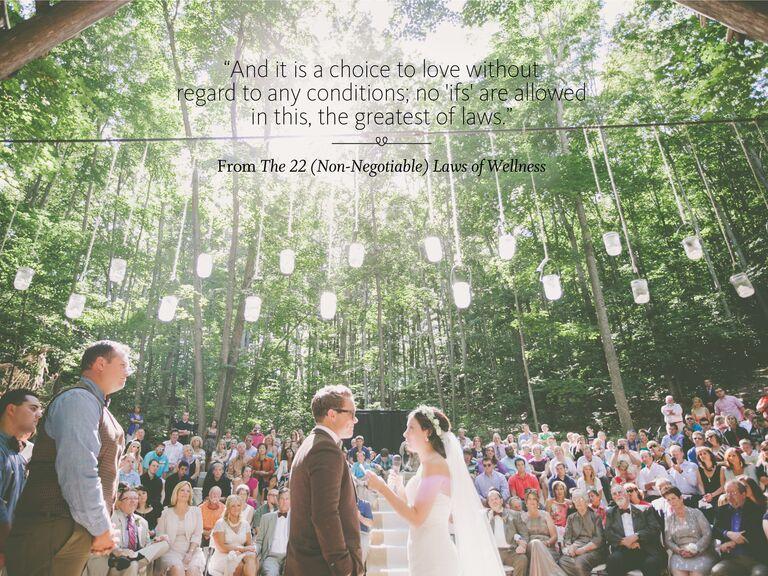Laws of Wellness wedding ceremony reading