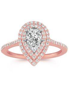 Shane Co. Elegant Pear Cut Engagement Ring