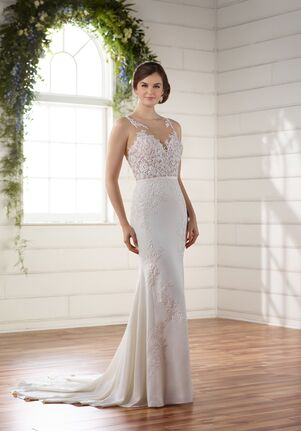Simple Sheath Backless Wedding Dress