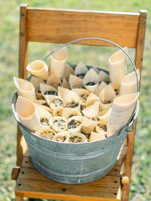 Cones of Bird Seed for Ceremony Recessional