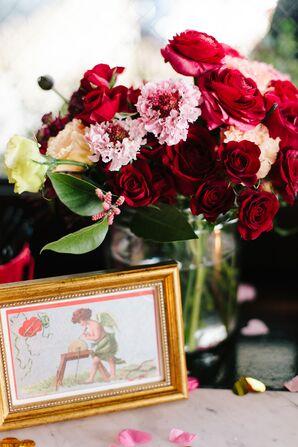 Gold-Framed Valentine's Day Postcards