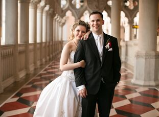 A Las Vegas destination wedding was especially sentimental for Kay Griswold (27 and a pharmacist) and Ross G