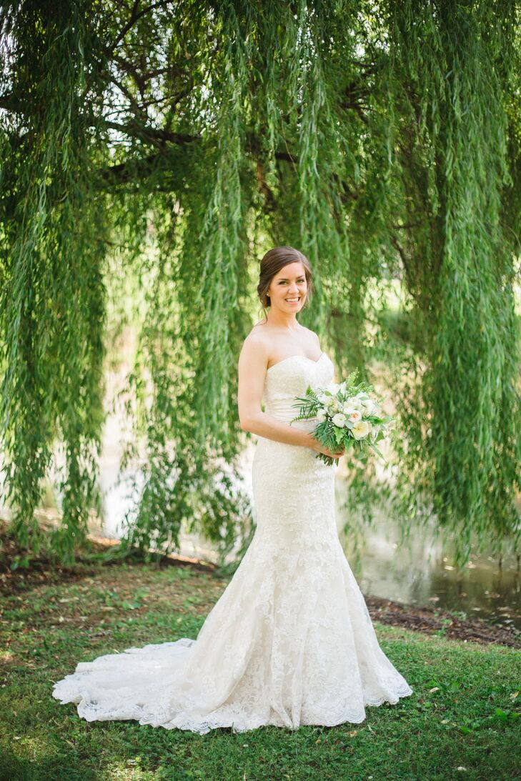 Strapless Lace Mermaid-Style Wedding Dress