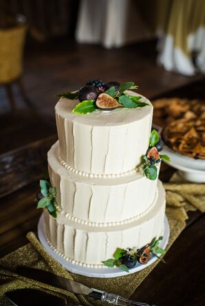 Fresh Fig and Buttercream Wedding Cake