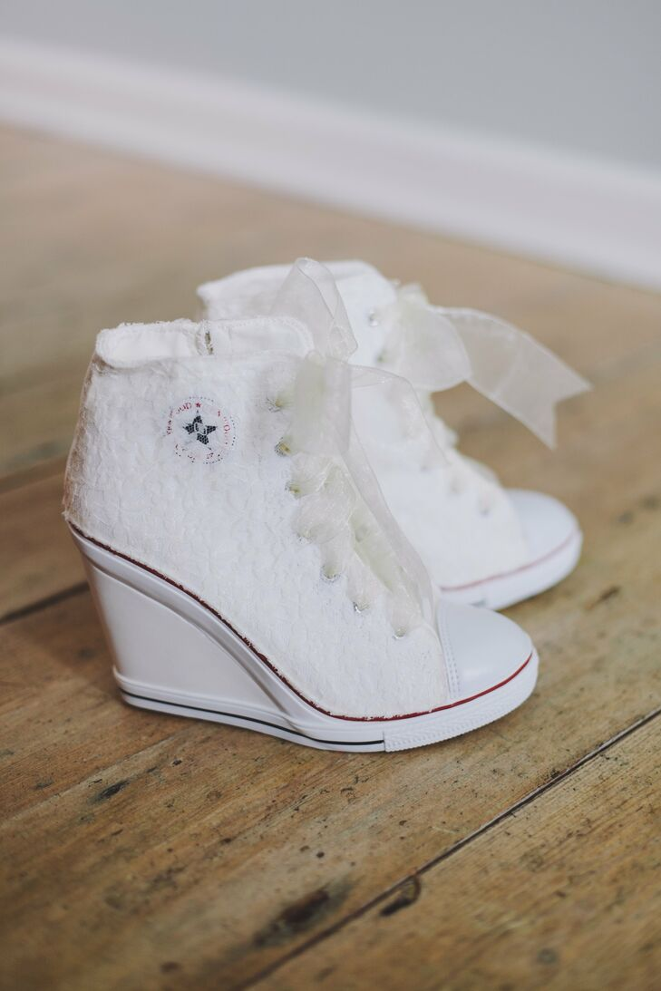 White Bridal Sneakers