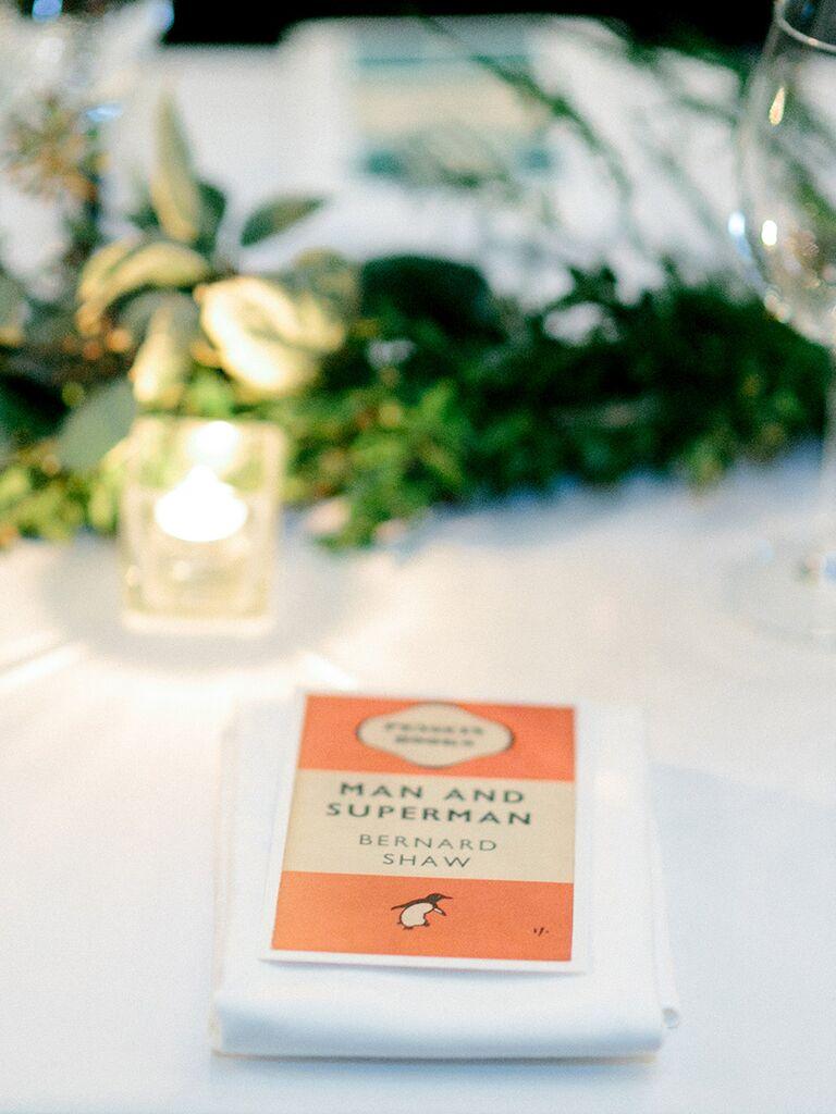 Book Wedding Theme Ideas