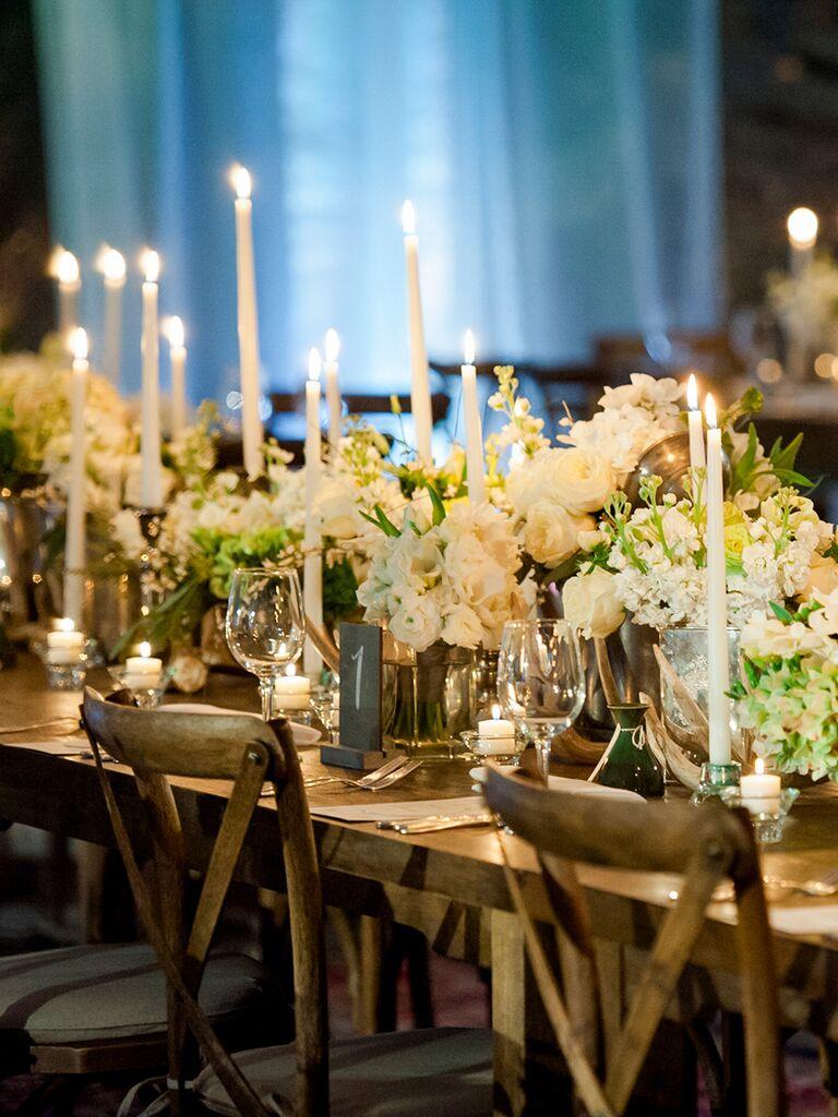 Rustic floral wedding centerpieces