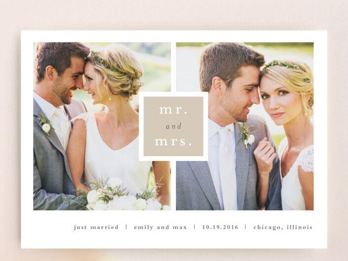 Stacey Meacham Frame Up wedding announcement