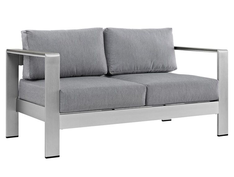 """If you're working on decorating an outdoor seating area (or a """"man cave"""" patio), a loveseat designed for the outdoors is a great 17th anniversary gift."""