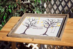 Oak Tree Sign-In Board