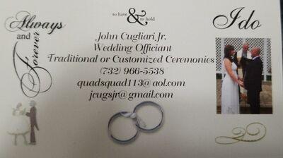 Wedding Ceremonies by John