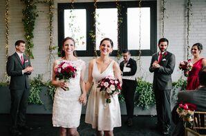 Ivory Knee-Length Wedding Dresses