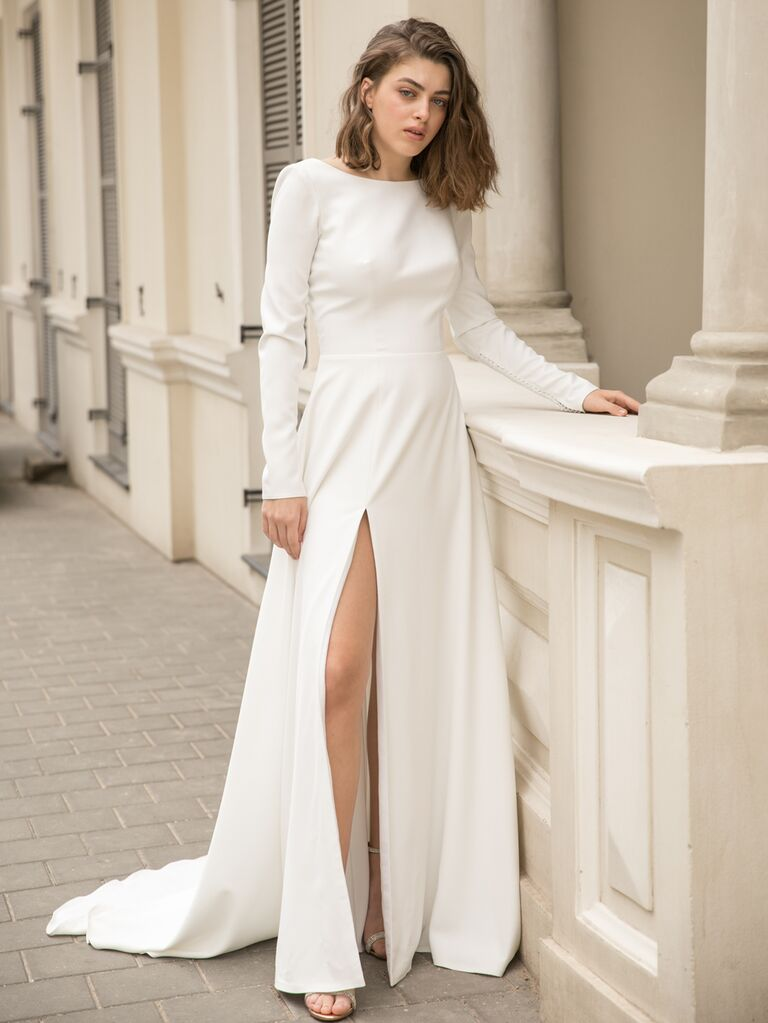 Dana Harel sexy wedding dress with slit