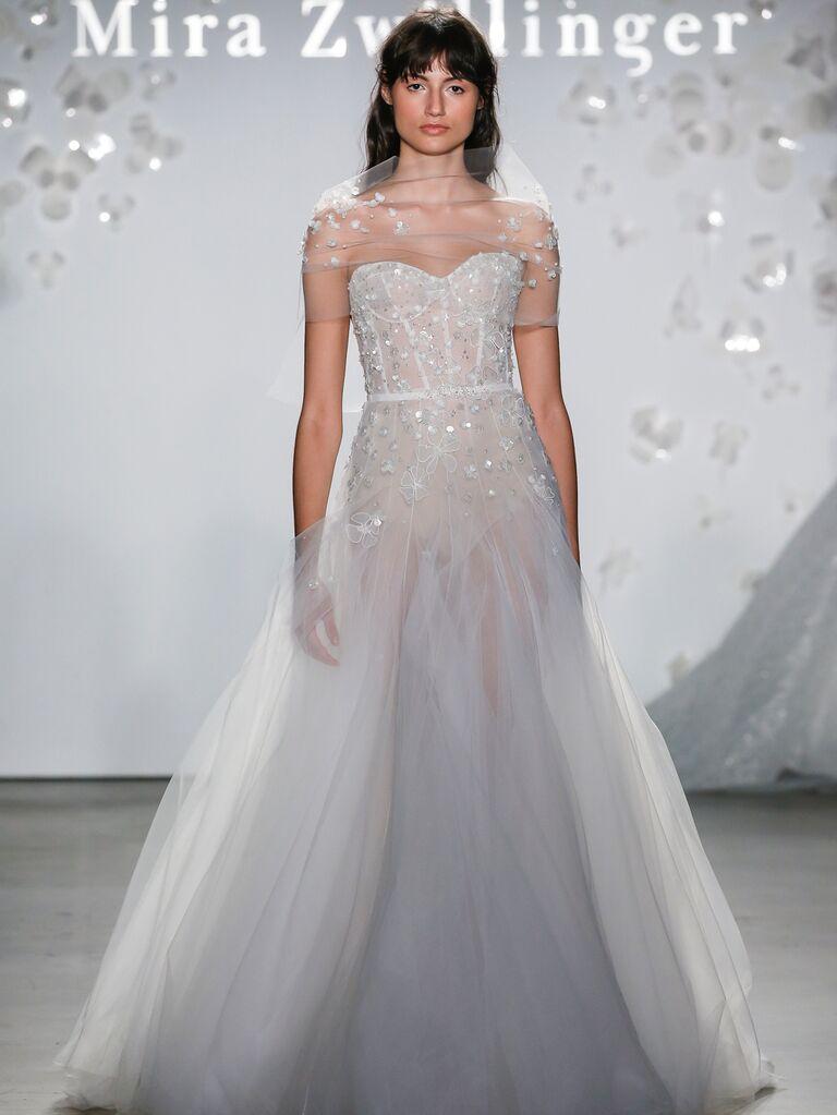 Mira Zwillinger Spring 2020 Bridal Collection embellished corseted wedding dress