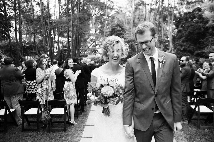 Joyful Newlyweds at Chevy Chase Wedding