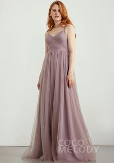 CocoMelody Bridesmaid Dresses RB0313 V-Neck Bridesmaid Dress